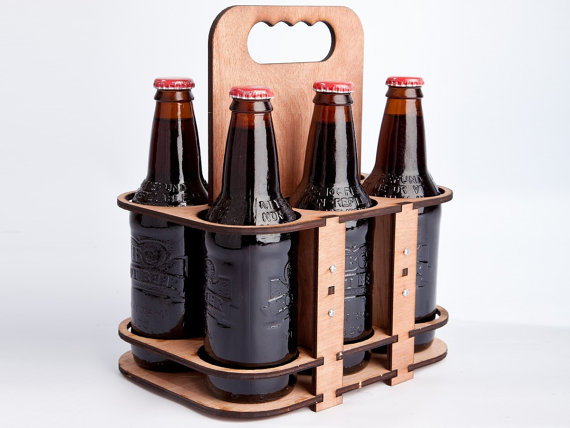 The 6 packer a lasercut 6 pack glass bottle holder for 6 pack beer carrier template
